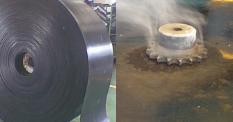 Heat resistance conveyor belts